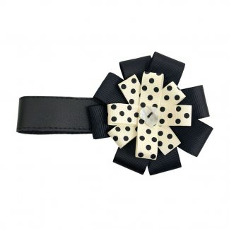 BabyStyle Prestige Black & Cream Polka Ribbon